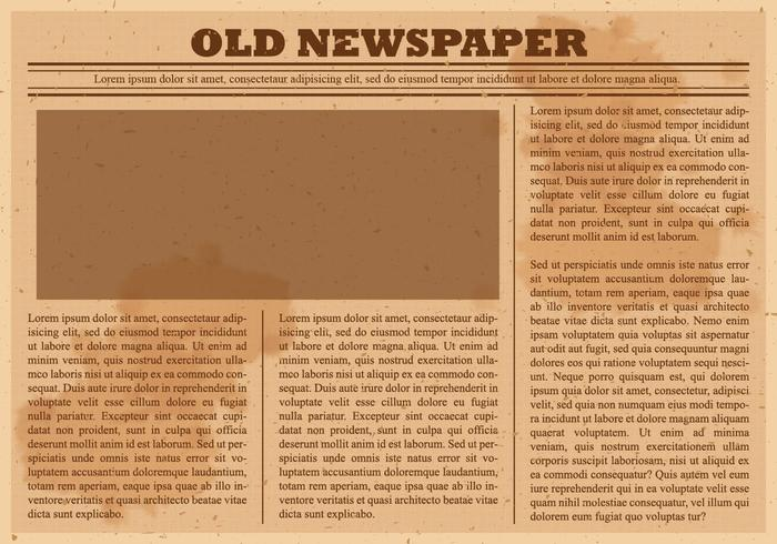 Old Newspaper Vector - Download Free Vector Art, Stock ...