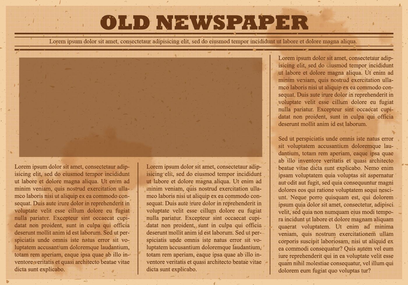 Old Newspaper Vector Download Free Vector Art Stock Graphics Images