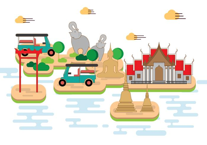 Free Bangkok Illustration