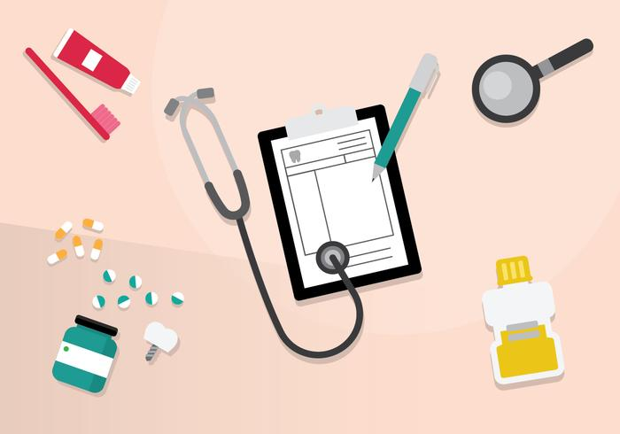 Free Medical, Medicine, and Prescription Pad Illustration Vector