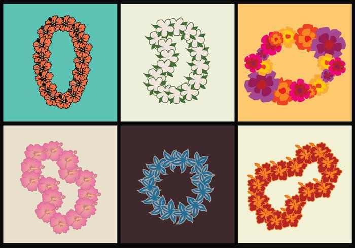 Hawaiian Lei Vector Illustrations