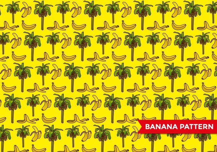 Banana Tree Pattern vector