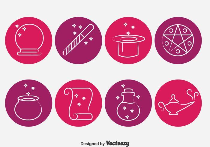 Magic Tools Circle Icons Vector