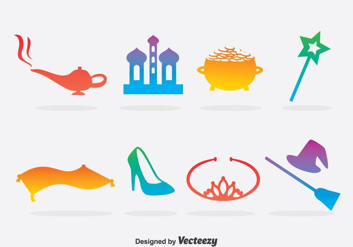 Colorful Fairy Tale Element Vector
