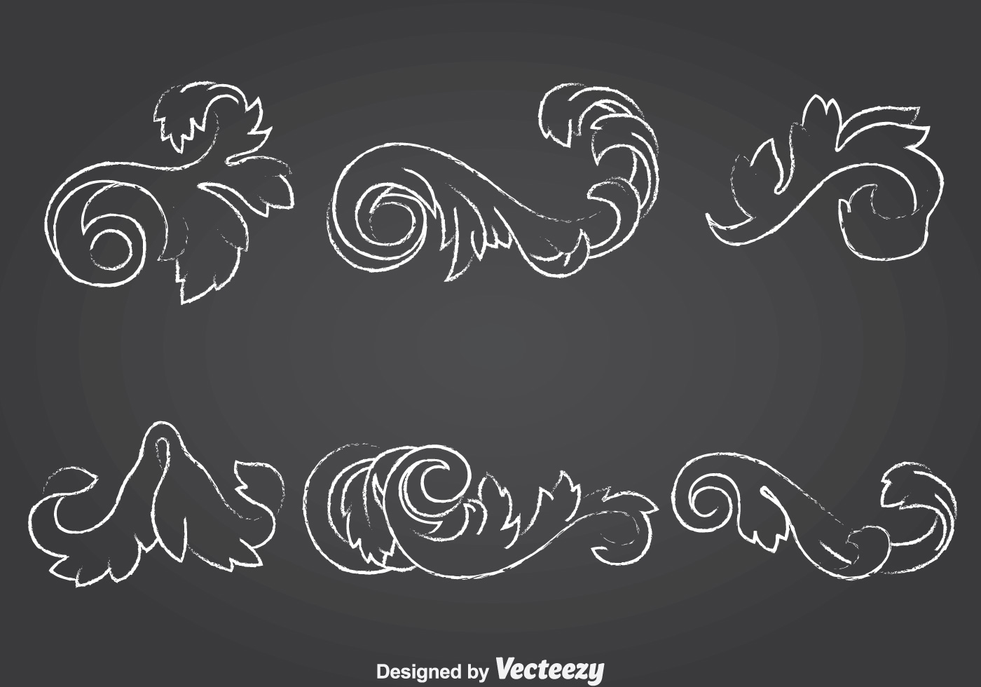 Chalk Drawn Achantus Ornament Collection Download Free