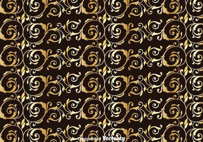Gold Achantus Ornament Background