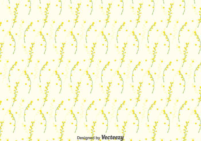 Fond d'écran Mimosa Seamless Pattern vecteur