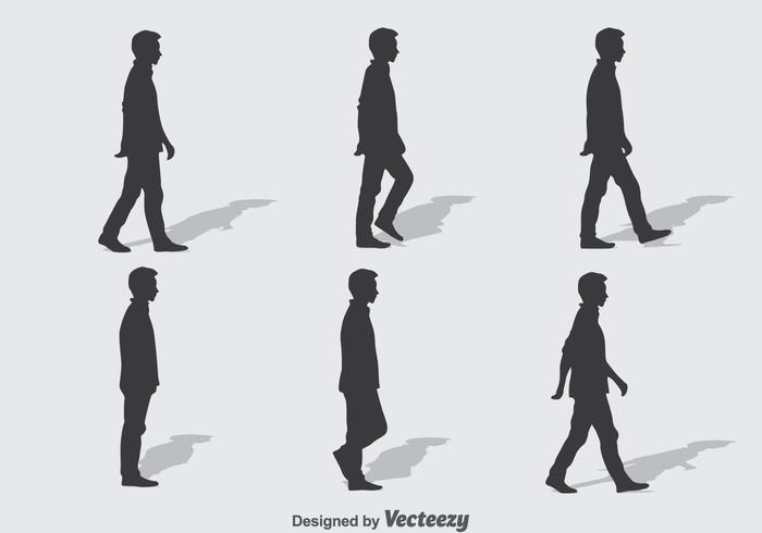 Man Walking Cycle Vector