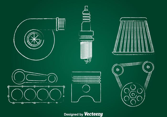 Car Engine Drawing Free Vector Art - (8301 Free Downloads)