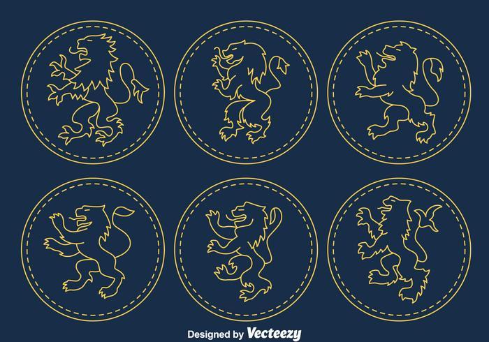 Leeuw Rampnt Symbool Vector