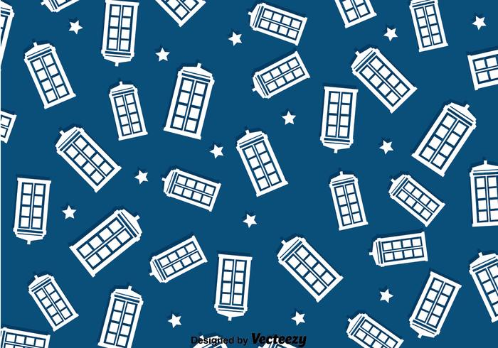Police Box Pattern Background