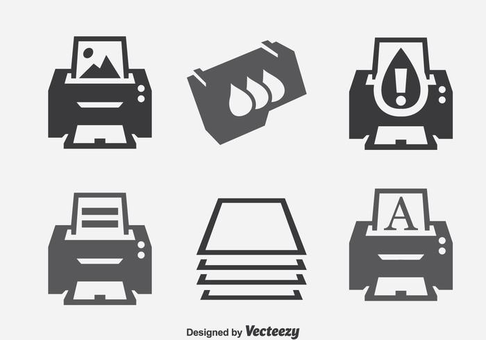 Printer Element Icons Sets