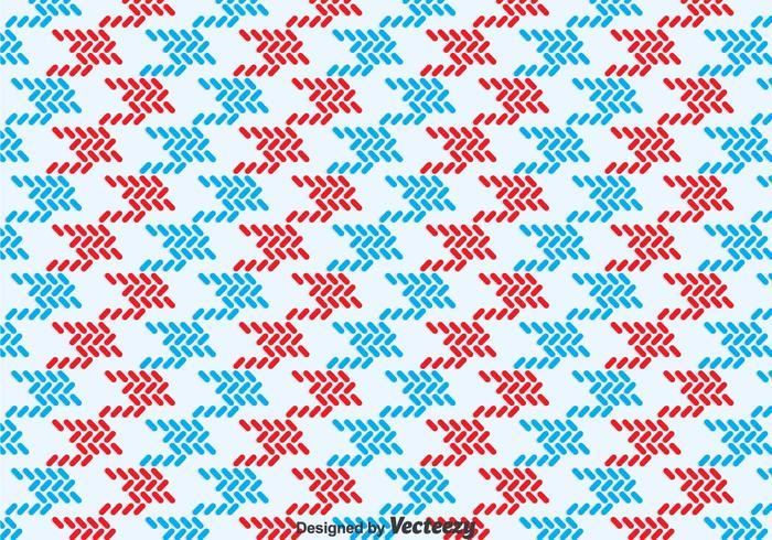 Red And Blue Keffiyeh Pattern