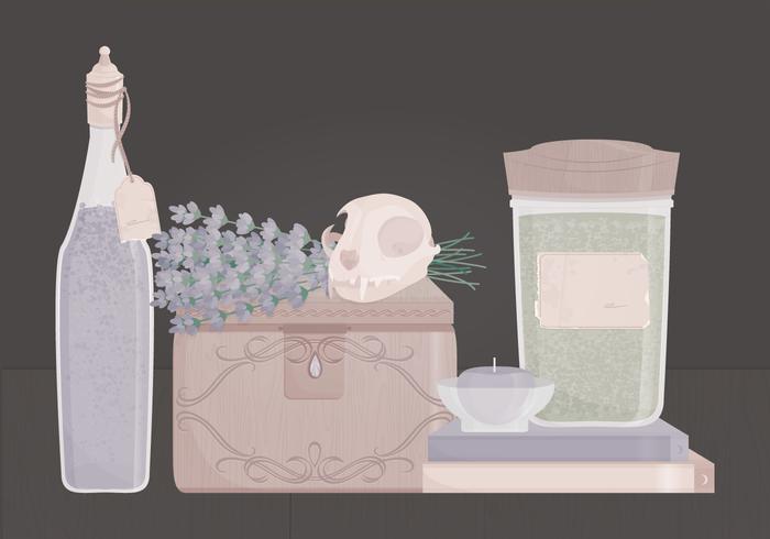 Illustrazione di vettore del cranio dell'annata
