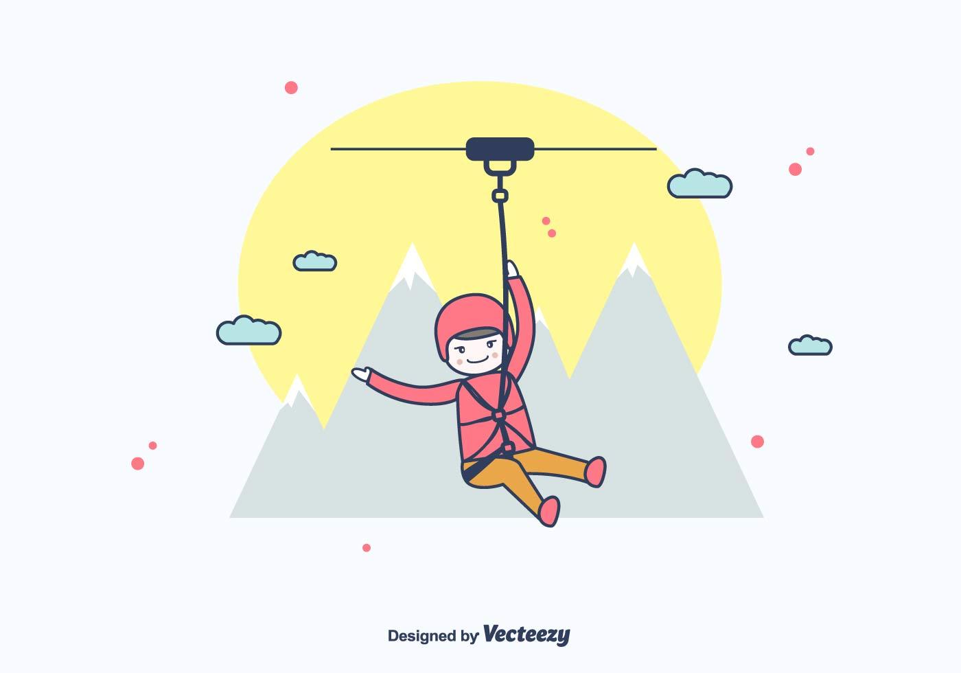 Zipline Vector Download Free Vector Art Stock Graphics