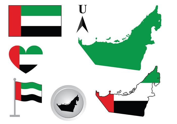UAE Map Vector