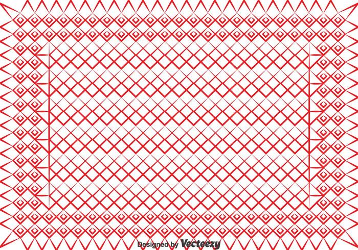 Red Keffiyeh Pattern Vector