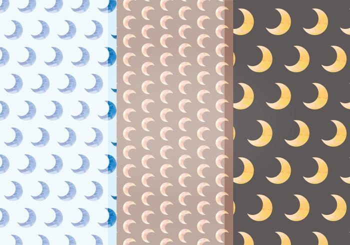 Vektor måne mönster