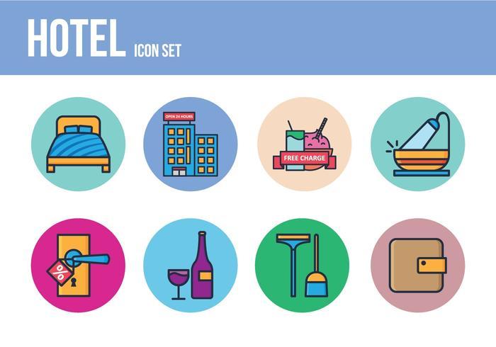 Conjunto de ícones do hotel gratuito