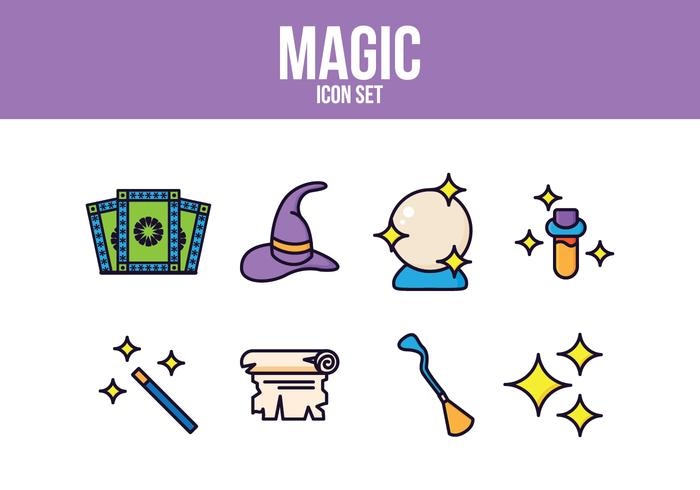 Gratis Magic Icon Set vektor