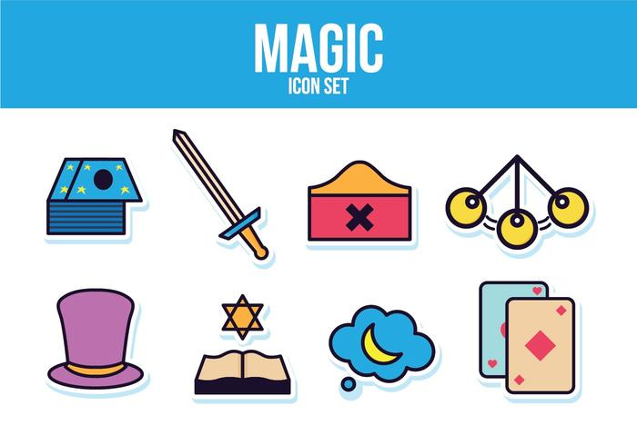 Conjunto de ícones mágicos grátis