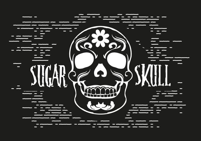 Gratis Sugar Skull Vector Illustration