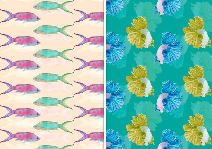 Vektor Sommer Nahtlose Fisch Muster