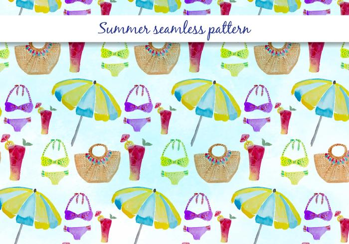 Vector Summer Swimsuit Pattern