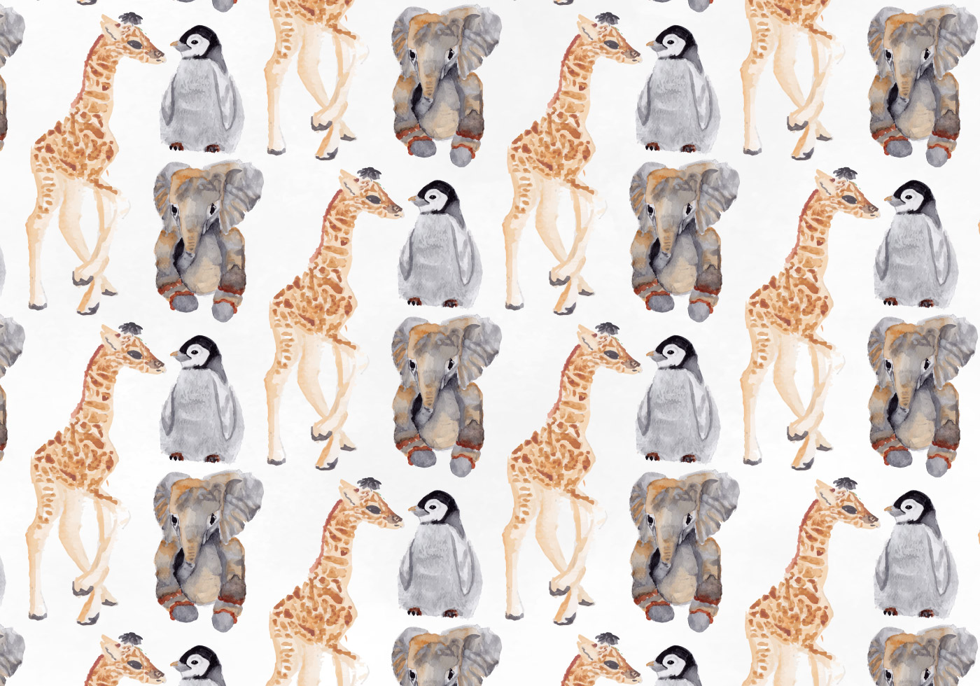 Free Vector Watercolor Animal Pattern - Download Free ...