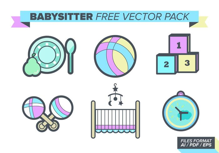 Babysitter Gratis Vector Pakket