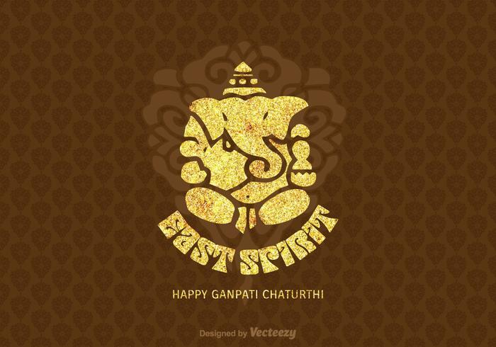 Free Happy Ganpati Chaturthi Vector Card