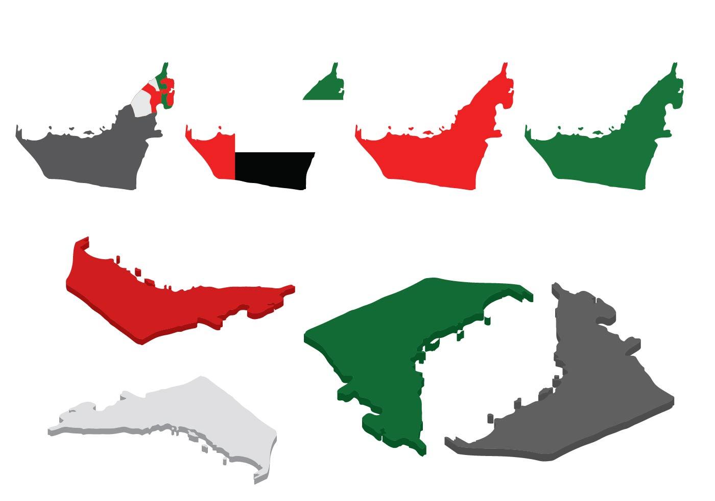 Free UAE Map Vector - ...