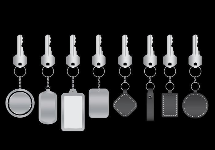 Nyckelringar Vektorpaket