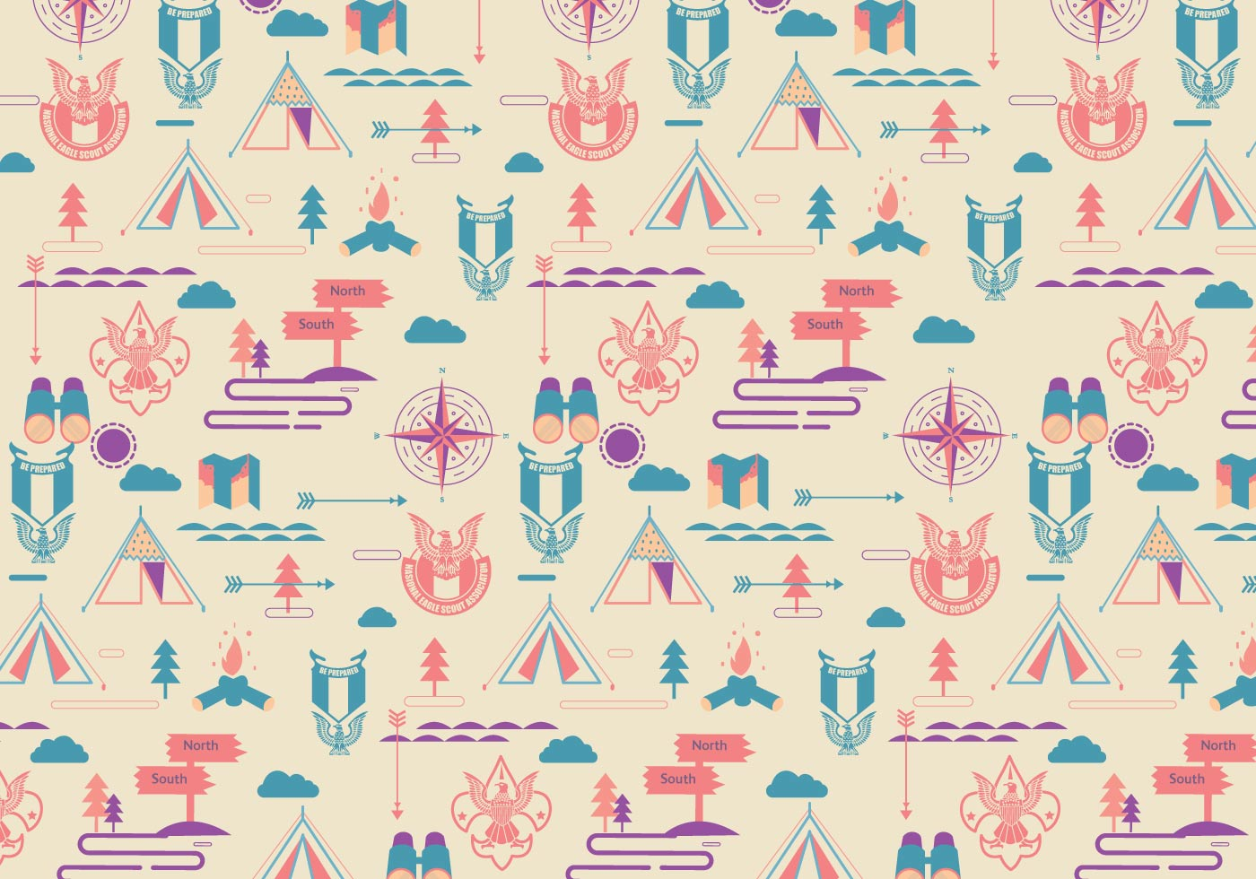 eagle scout pattern vector download free vector art