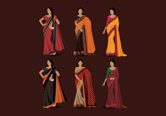 Indian Women Style Vector