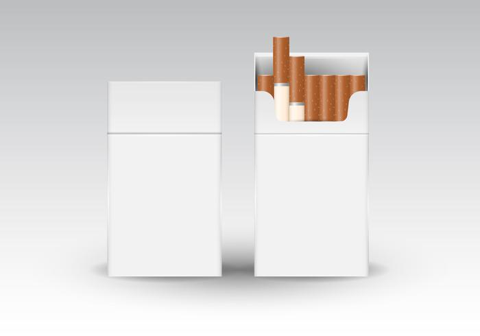Free Realistic Cigarette Packaging Vector