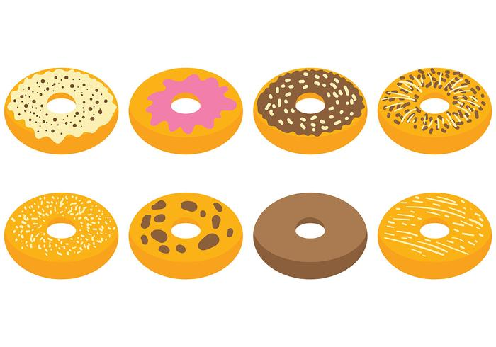 Gratis Bagel Pictogrammen Vector