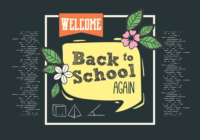 Gratis Back to School Vector Typografi