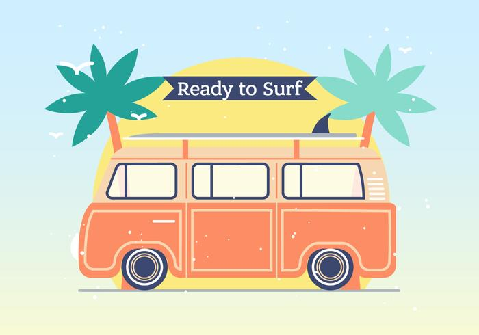 Hippie Bus Vector Background