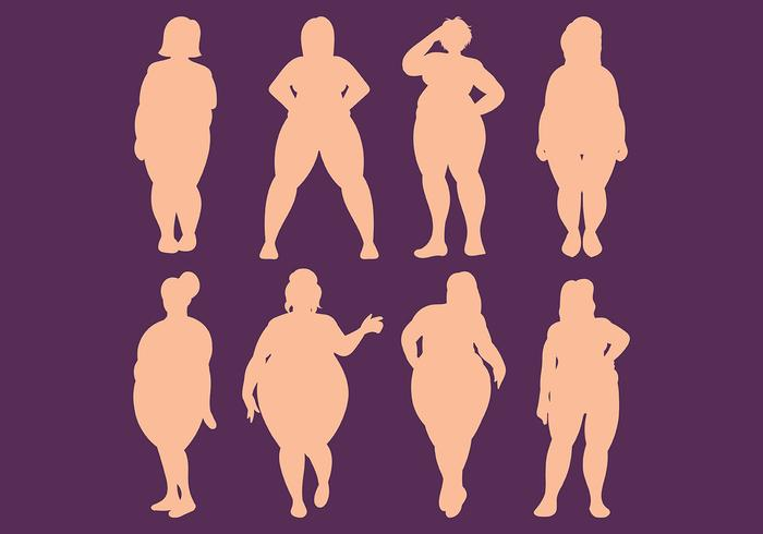 Free Fat Frauen Icons Vektor