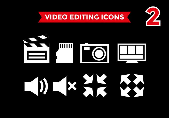 Video Editing Icons Vector #2