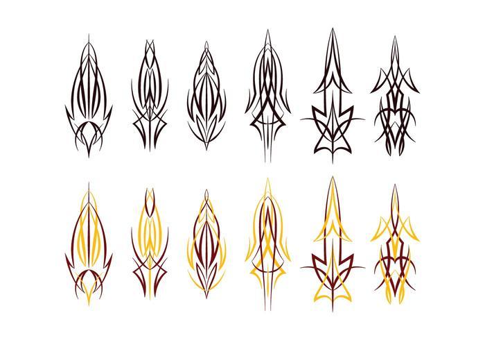 Pinstripes vinyl ontwerp vector