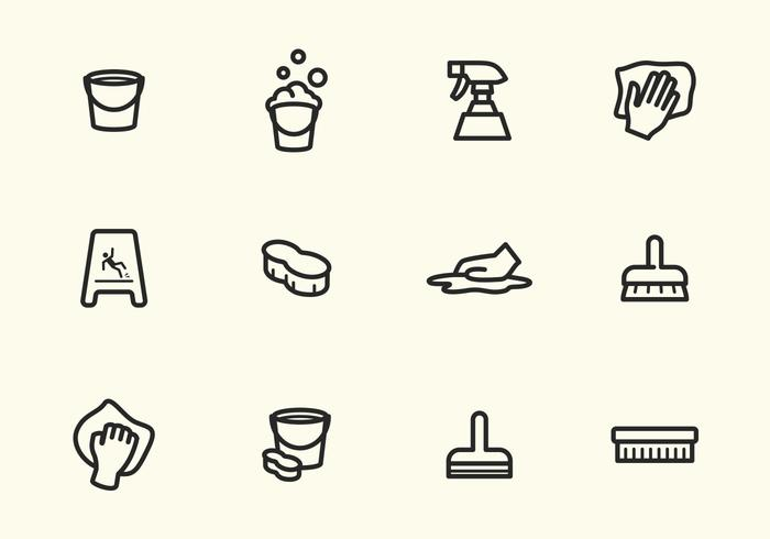 Simple Vector Stroke Cleaning Icons