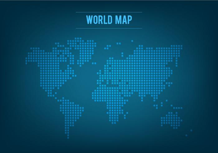 Gratis Vector Mosaic World Map