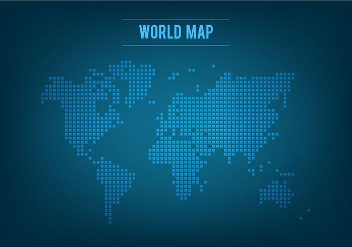 Free Vector Mosaic Weltkarte