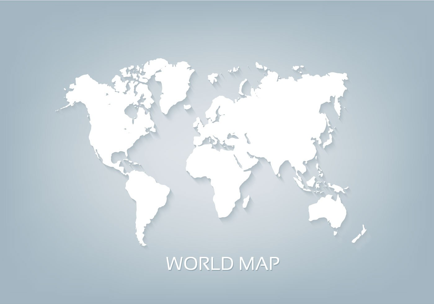Free Vector World Map White 3D Download Free Vector Art Stock Graphics am