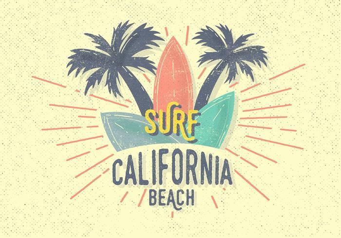 Illustration vectorielle gratuite Vintage Surf