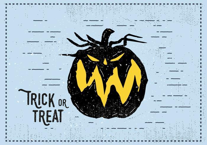 Trick or Treat Jack-o-Laterne Illustration vektor