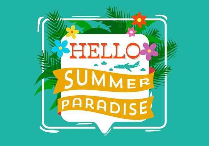 Hallo zomer typografie