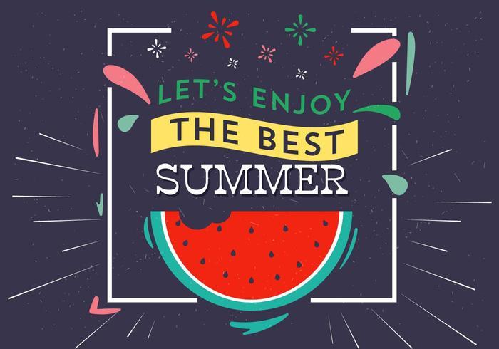 Tipografia de verão vetor livre